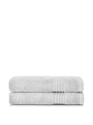 Chortex Ultimate Set of 2 Bath Sheets, Silver