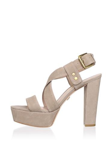 Pour La Victoire Women's Nealla Platform Sandal (Taupe Pebble)