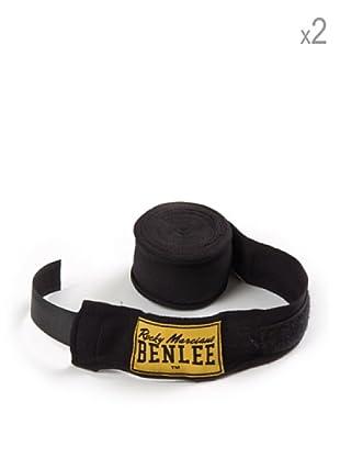 Benlee Pack 2 Vendas Para Manos Elastic 300 cm (Negro)