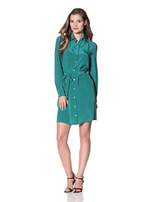 Luna by Josandra Women's Calista Shirt Dress (Emerald)