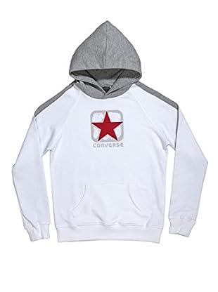 Converse Sudadera Logo Boy Hd (Blanco / Gris)