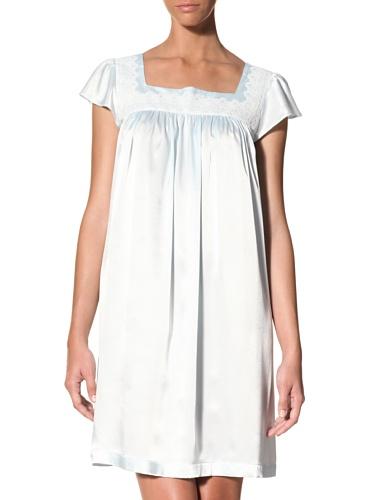 Oscar de la Renta Women's Silky Charmeuse Gown (Blue Brook)