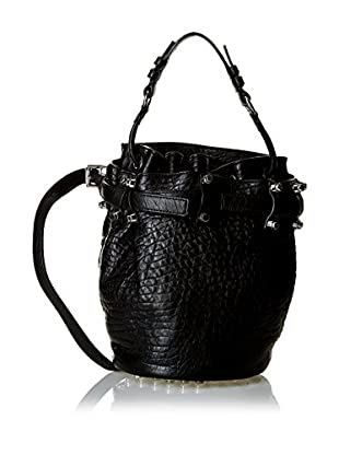 Alexander Wang Secchiello Diego Small Black Pebbledlamb/Ir