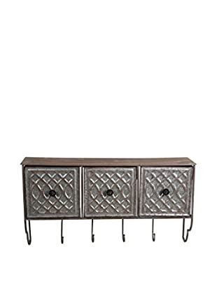 3-Drawer Wall Décor, Silver