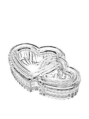 Studio Silversmiths Double Heart Crystal Box