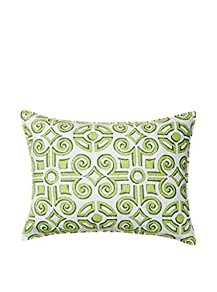 Boxwood Abbey Standard Sham, Green/White