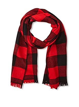 Andrew Noble Men's Buffalo Plaid Scarf (Red/black)