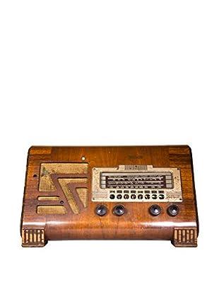 1930s Vintage Philco Large Radio, Brown/Gold
