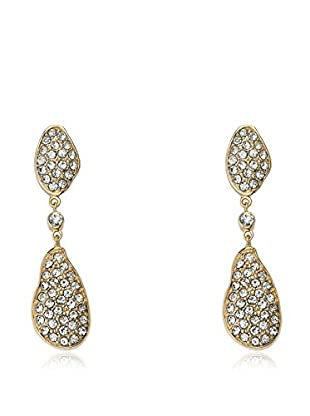 Riccova City Lights CZ Pavé Double Drop Earrings, Gold
