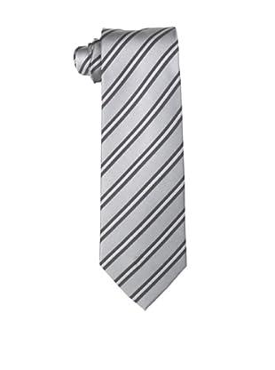Yves Saint Laurent Men's Triple Stripe Tie, Grey