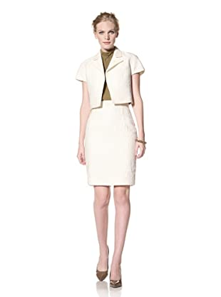 GIAMBATTISTA VALLI Women's Cropped Jacket (White)