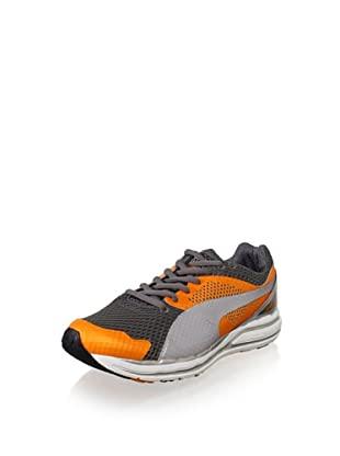 PUMA Men's Faas 800 S Running Shoe (Flame Orange/Steel/Black)