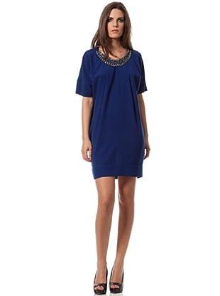 Caramelo Vestido Casual (Azul)