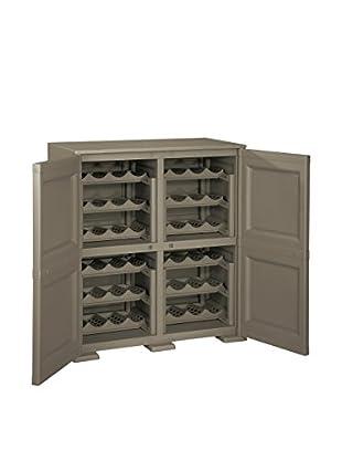Tontarelli Vinoteca 2 Puertas - 48 Botellas Marrón