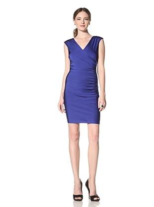 Marc New York Women's Surplice Zip Dress (Hyacinth)