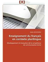 Enseignement Du Francais En Contexte Plurilingue
