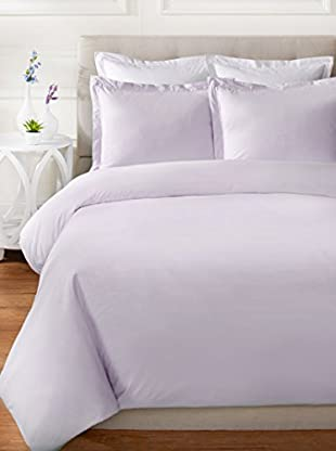 Mélange Home 300 TC Egyptian Cotton Percale Double Pleat Solid Duvet Set