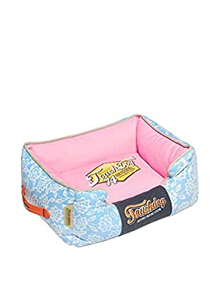 Touchdog Rose-Pedal Patterned Rectangular Dog Bed