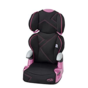 Evenflo AMP High Back Car Seat Booster-Pink
