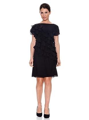 Caramelo Vestido Casual (Negro)