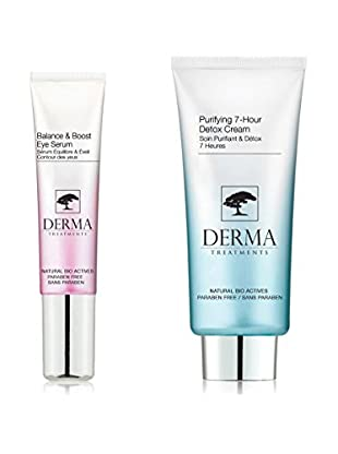DERMA TREATMENTS Kit de Tratamiento Facial y El Contorno De Ojos Balance & Boost Purifying