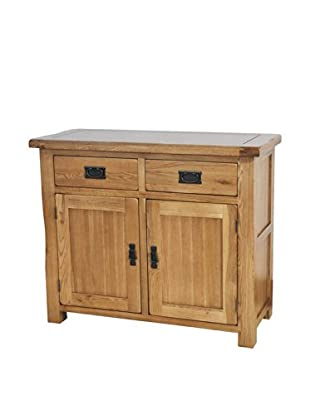 Gallerie Décor Oakdale 2 Drawer 2 Door Cabinet, Natural Oak