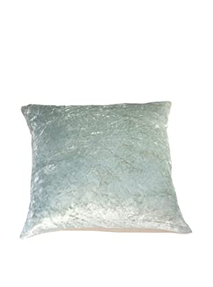 Filling Spaces Solid Crushed Velvet Pillow, Seafoam