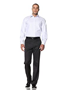 Yves Saint Laurent Men's Super Twill Italian Collar Dress Shirt (Light Blue)