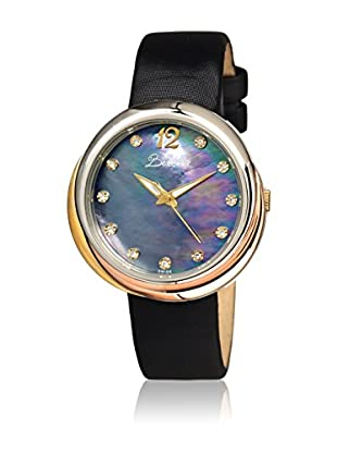Bertha Uhr mit Schweizer Quarzuhrwerk Jean schwarz 39 mm