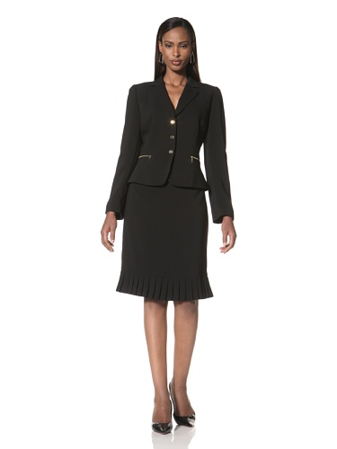 Tahari by A.S.L. Women's Two-Piece Skirt Suit (Black)