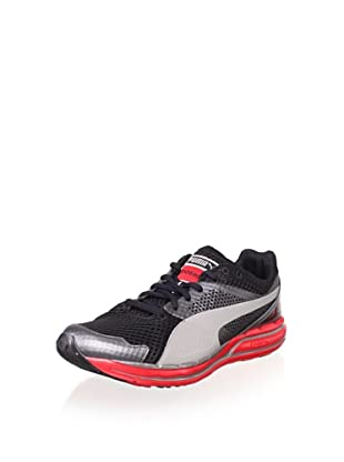 PUMA Men's Faas 800 S Running Shoe (Dark Shadow/Black/Red)