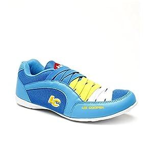 Lee Cooper Men's Blue Lemon Sneakers Size-37