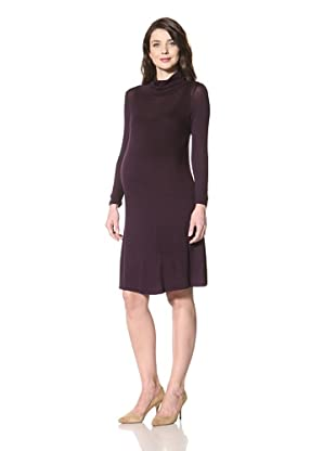 NOM Women's Eliana Turtleneck Dress (Purple)