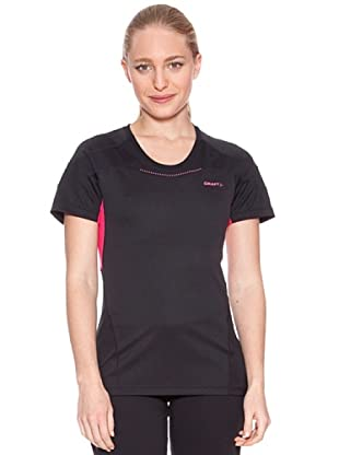 Craft T-Shirt Light Performance (Nero/Fucsia)
