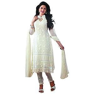 Designer White Long Anarkali Suits
