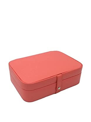 Morelle & Co. Kimberly Leather Versatile Jewelry Box, Coral