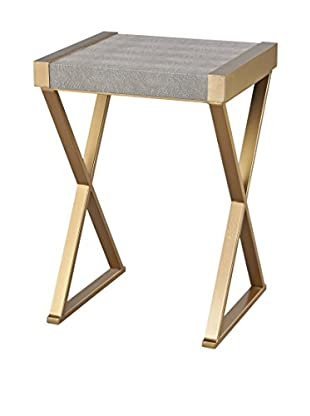 Artistic Sands Point Shagreen Accent Table, Gold/Grey