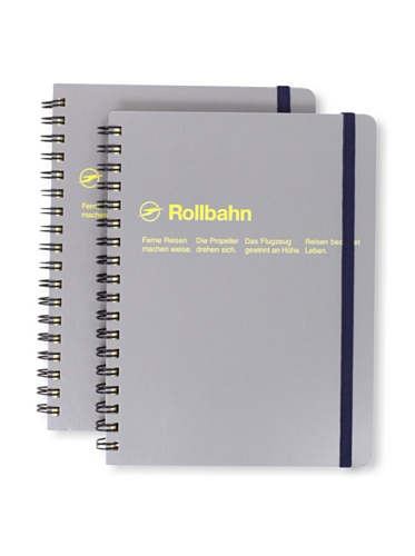 Sweet Bella Set of 2 Rollbahn Spiral Notebooks (Grey)
