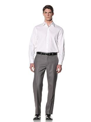 Perry Ellis Men's Striped Sateen Shirt (Bright White)