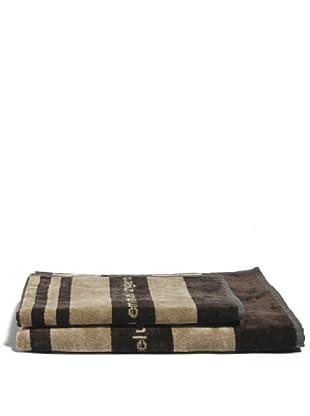 Ungaro Handtuch und Badetuch Geo (Beige)