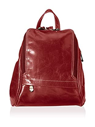 David King Women's Leather Backpack, Cherry Florentine