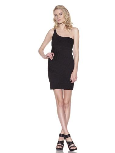 Torn by Ronny Kobo Women's Mary Jane Textured Dress (Black)