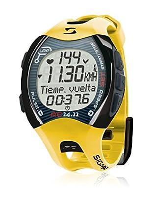 Sigma Sport Herzfrequenzmessgerät Pulsuhr RC 14.11 gelb