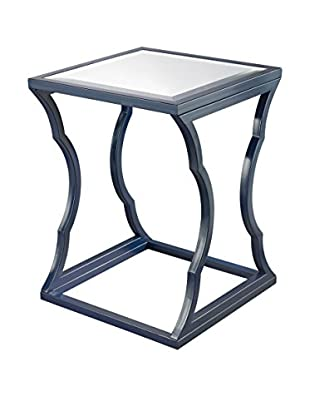 Artistic Lighting Metal Cloud Side Table, Navy Blue