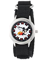 Disney Kids W000016 Mickey Mouse Stainless Steel Time Teacher Watch