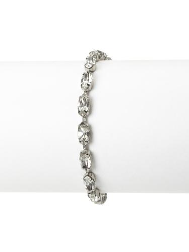 Lulu Frost 1920's Art Deco Crystal Pattern Bracelet, Silver