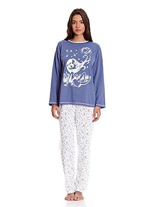 Kumy Pijama Señora Amanecer (Azul)