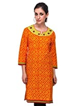 Diti Women Orange Printed Kurti - 1021OR