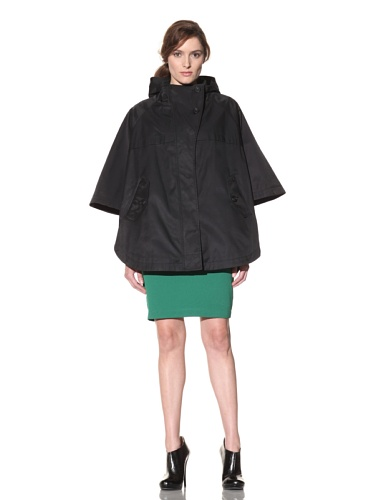Hilary Radley Women's Hooded Cape (Black)