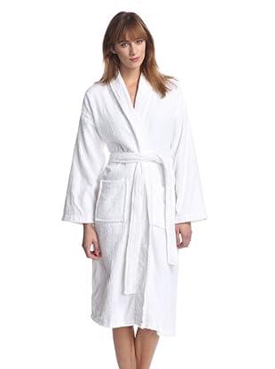 Aegean Apparel Women's Long Terry Loop Robe (White)